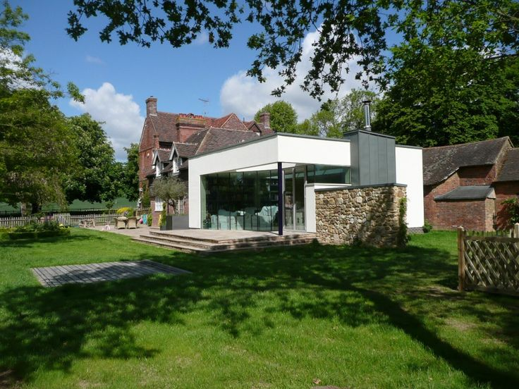 7 best images about modern extensions to listed houses on for Extension maison 56