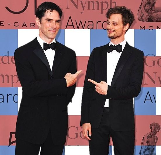 Aaron Hotchner and Spencer Reid- Thomas Gibson and Matthew Gray Gubler! Criminal Minds