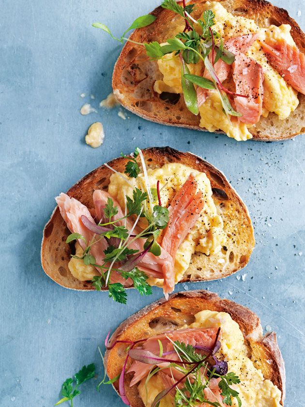 Smoked Trout With Mascarpone Scrambled Eggs | Donna Hay