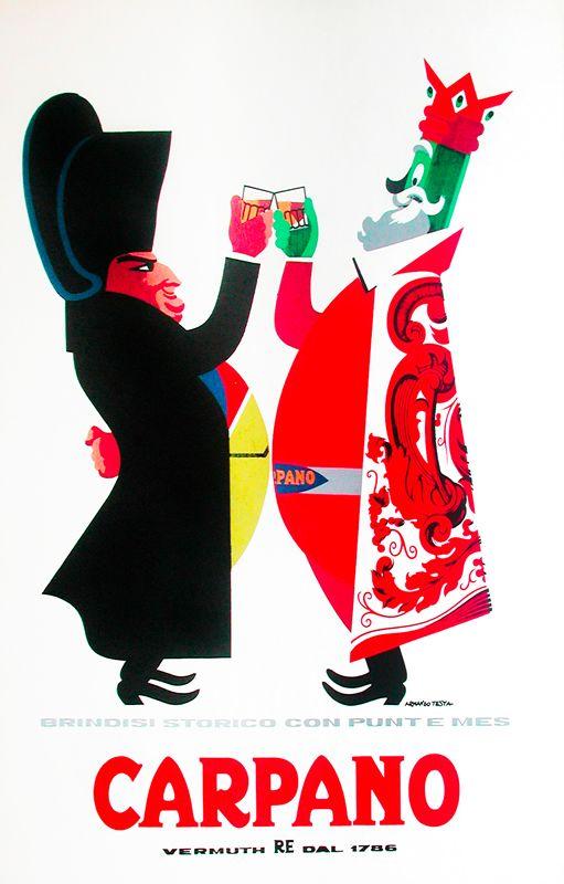 Carpano - Brindisi Storico (chin chin), 1956 | Armando Testa