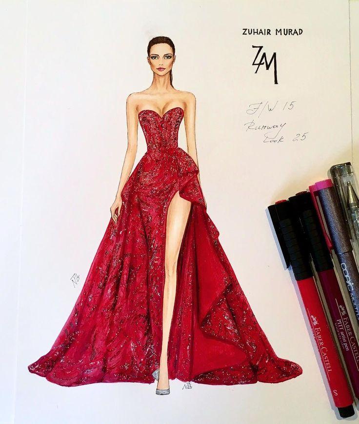 Illustration de mode au feutre par Natalia Zorin Liu