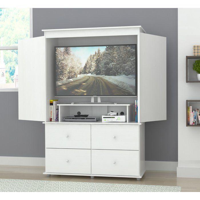 Burditt Tv Armoire Tv Armoire White Armoire Bedroom Armoire
