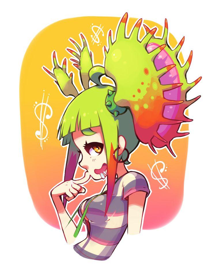 for pyoko Plant Girl Monye, She's a really great original character that pyoko did for a monster girl challenge!