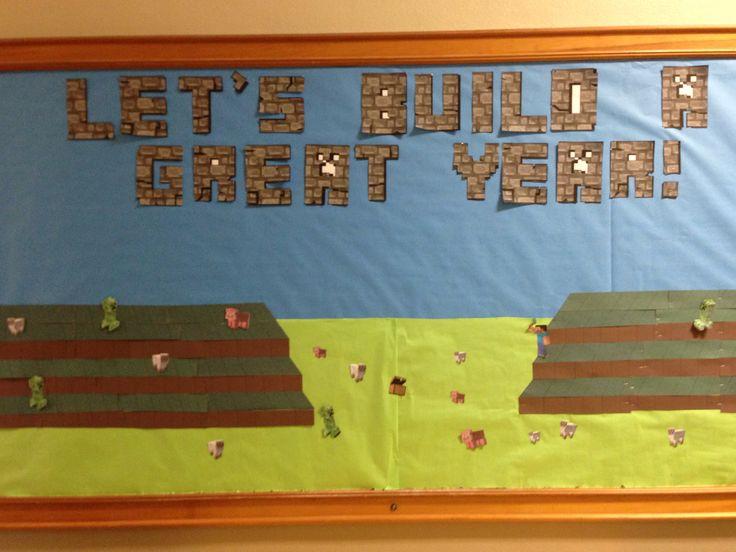 Minecraft bulletin board 5th and 6th grade