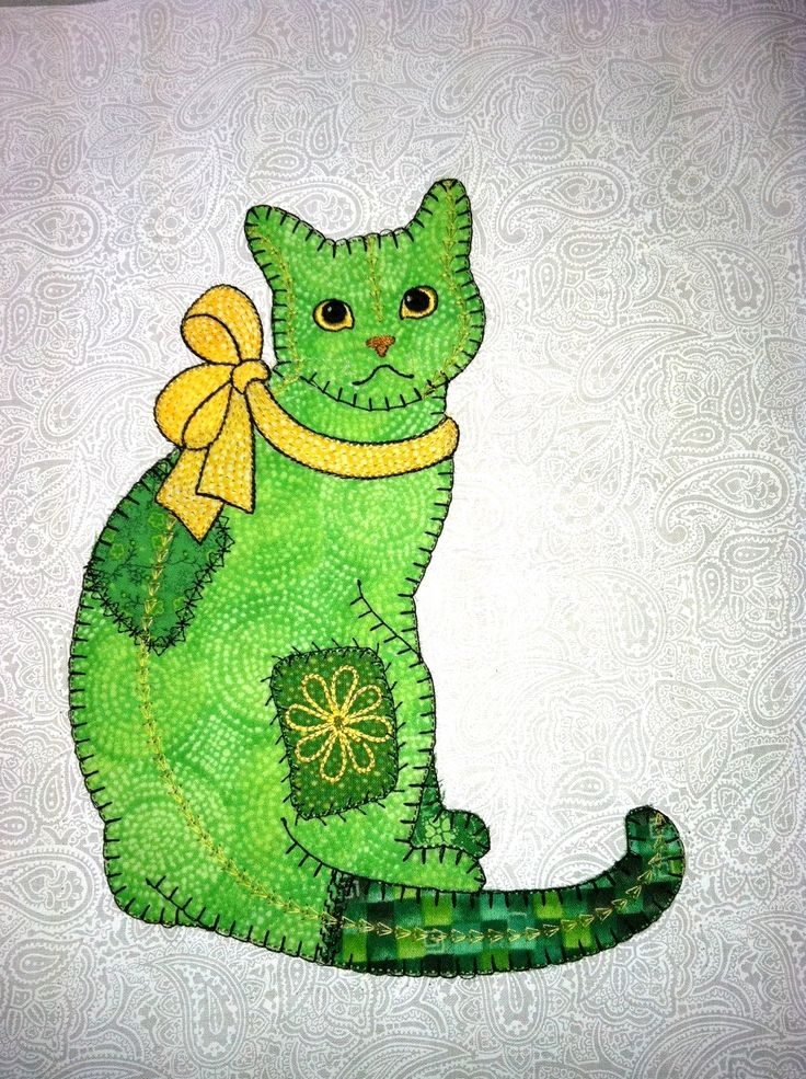 Anna's Awesome Appliques: Patch Cat Applique Design