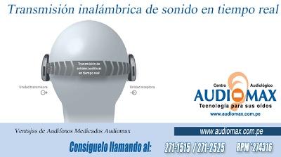 Audífonos Medicados en Lima AUDIOMAX. http://www.audiomax.com.pe/