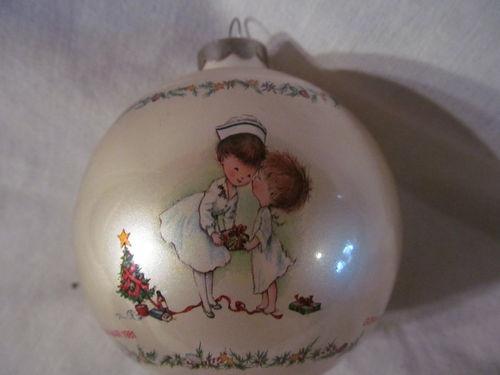 Nurse Christmas Ornament Glass Ball by Gorham