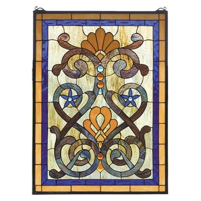 Tiffany Stained Glass | Meyda Tiffany Victorian Tiffany Nouveau Mandolin Stained Glass Window ...