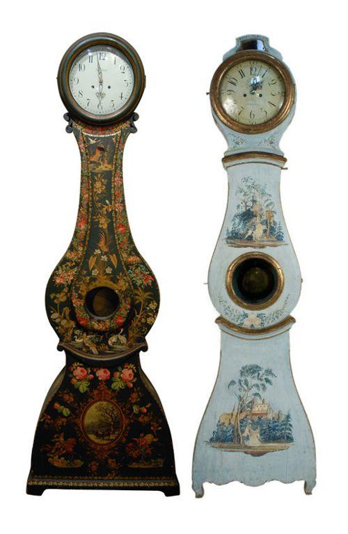 Painted Mora Clocks -- my favorites!