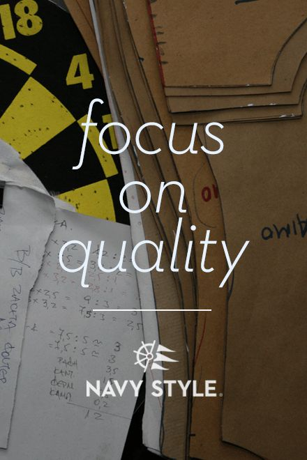 Focus on Quality, navy style
