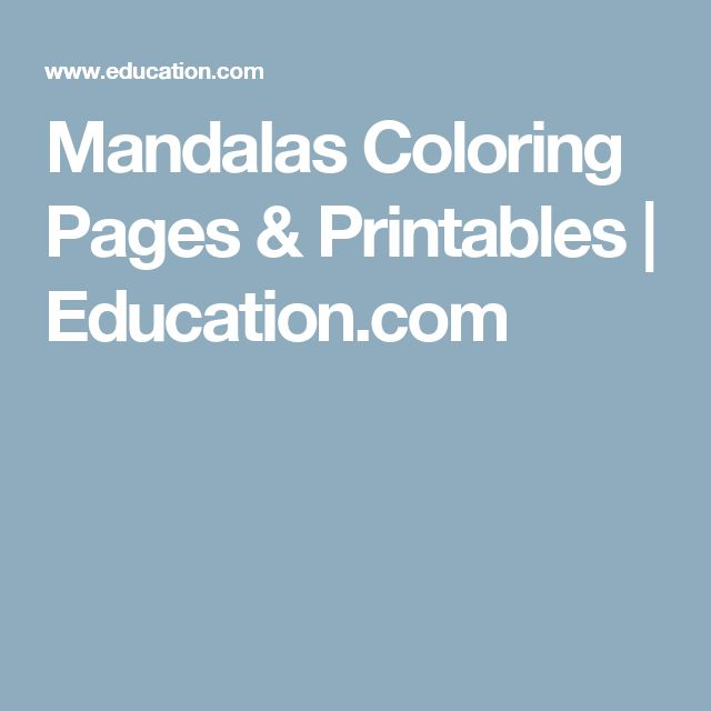 Mandalas Coloring Pages & Printables | Education.com