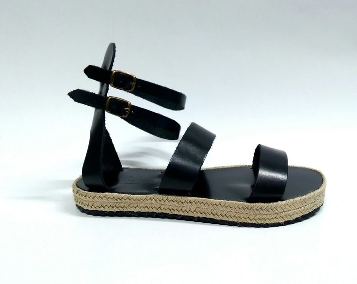 Honor_Black Handcrafted leather sandals