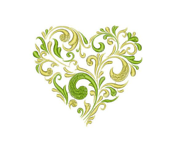 Hearts, Love, Valentine - Machine Embroidery Design - Instant Download - Four sizes (eight designs)