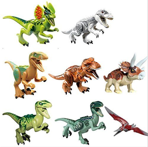 generic jurassic park dinosaur building blocks abs package set 8 piece 7cm you can