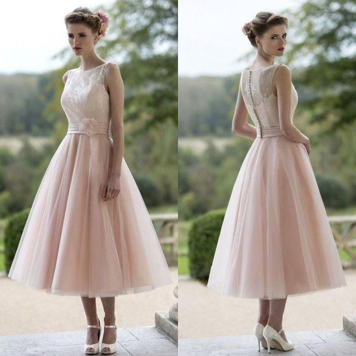 2016 New Cheap Pink Bridesmaid Dresses Bateau Lace A Line Tea Length Modest Plus Size Summer Maid Of Honor Party Prom Gowns 2015 Cheap Bridesmaid Dress Cranberry Bridesmaid Dresses From Modeldress, $72.99| Dhgate.Com