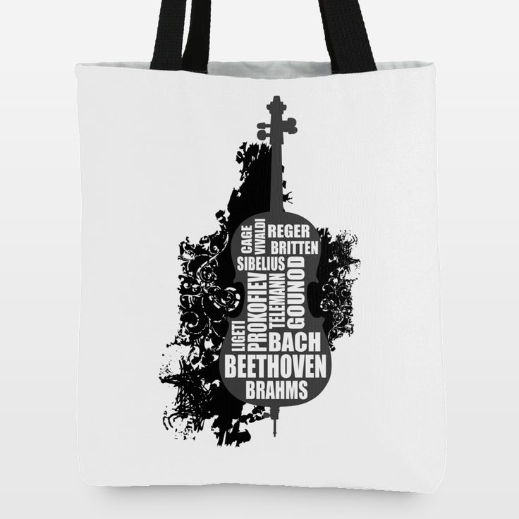 Fun Indie Art from BoomBoomPrints.com! https://www.boomboomprints.com/Product/Warp9/Cello_and_composers/Tote_Bags/Standard-_16x16/