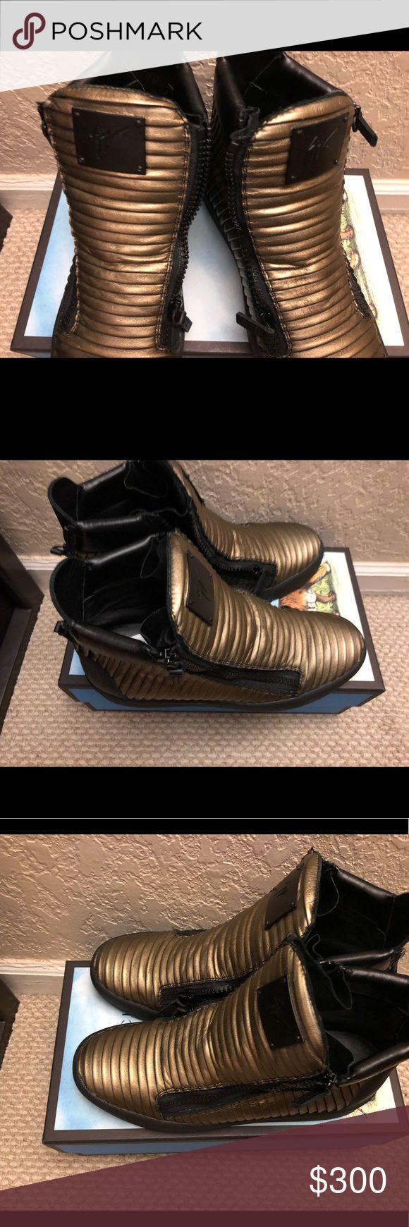 Giuseppe Zanotti high top sneakers Worn once authentic Giuseppe Zanotti for sale Shoes Sneakers