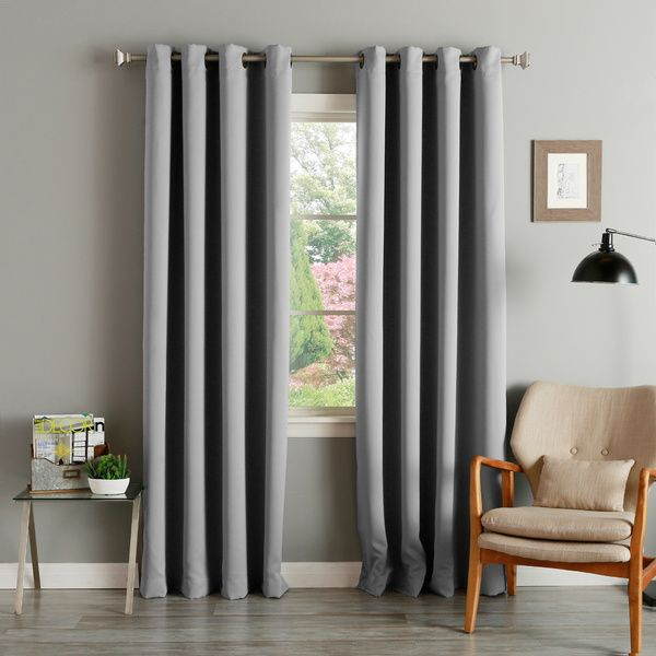 Exclusively On Overstock, These Thermal Insulated Curtain Panels Are  Featured In A Variety Of Warm Colors. The Modern Look With Soft Lines Makes  Your Living ...