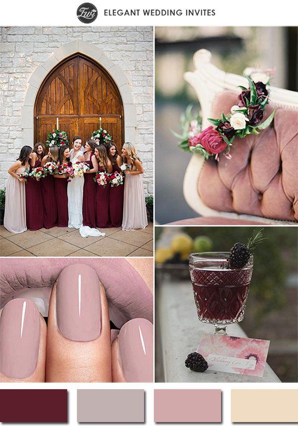 Marsalla trifft Mauve. Die Trendfarben für 2015. ♡ #Inspiration #Hochzeit #Nude