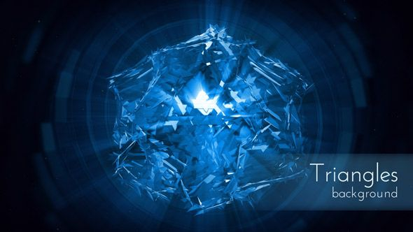 Motion Energy Blue Triangles Background