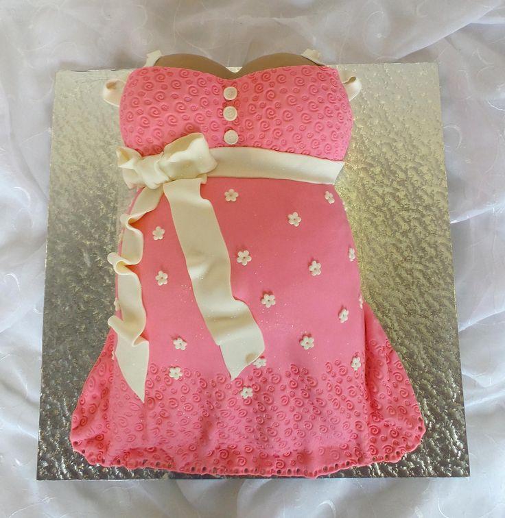 https://flic.kr/p/KEMBRy | Baby belly shaped baby-shower cake