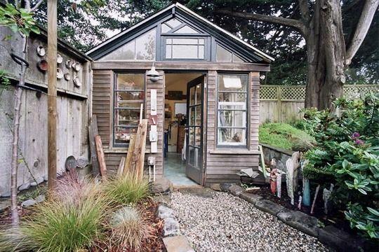 I want a ceramics studio garden shed...