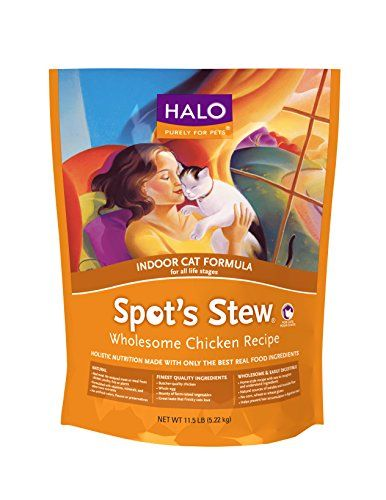 Halo Spot's Stew Holistic Dry Cat Food, Wholesome Chicken, 11.5 LB Bag of Indoor Cat Food and Kitten Food >>> Want to know more, click on the image.
