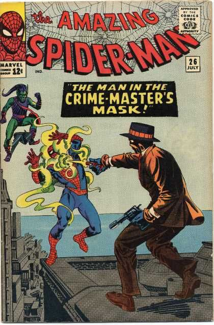 Steve Ditko's Spider-Man cover art at Cover Browser. Ditko does weight and posture better than anybody. Genius