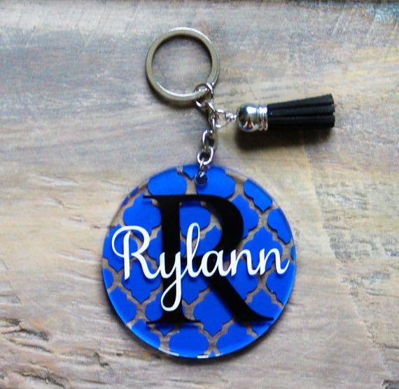 Personalized Keychain Glitter Keychain with tassel Glitter Keychain Birthday Gift Custom Keychain Monogram Keychain Bridesmaid Gift