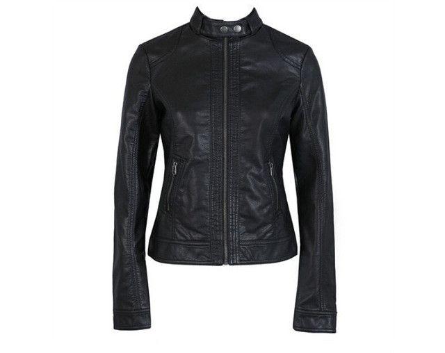 Women's Leather Jacket Pimkie PU Leather Motorcycle Jacket fashion Jacket Slim Women'Soft Leather Large Size XS-XXXL