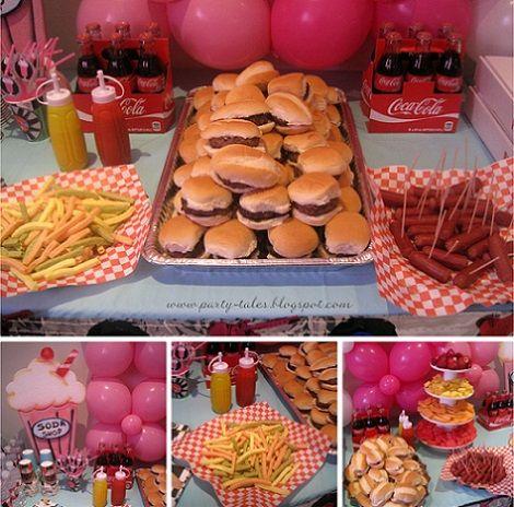 fiesta años 50 hamburguesas                                                                                                                                                     Más
