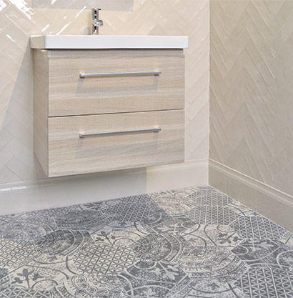 Akdo Collections Heritage Floor Glazed Ceramic Herringbone Walls