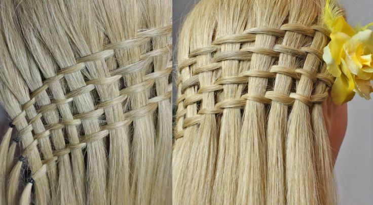 "Прическа ""Французский водопад"". Waterfall twist hairstyle"
