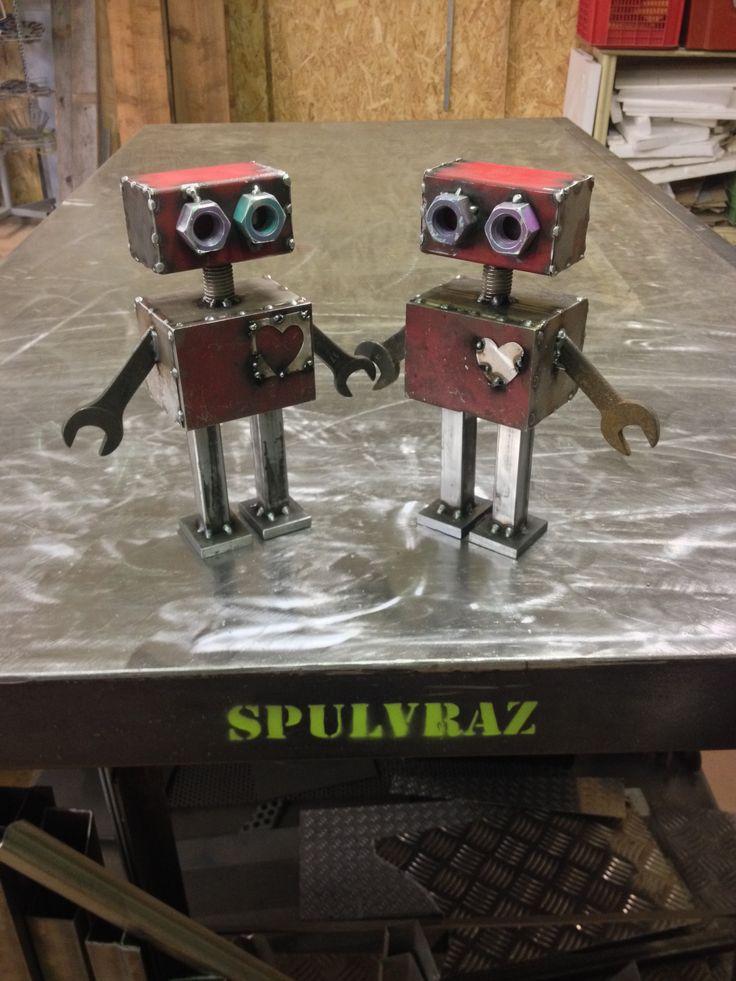 Robots need love too! ENTER THE SHOP Spulvraz.etsy.com #iron #toy #vintage #tin #robot #inspired #red #reuse #ruined #house #handmade #design #etsy #Bologna #madeinitaly #logo
