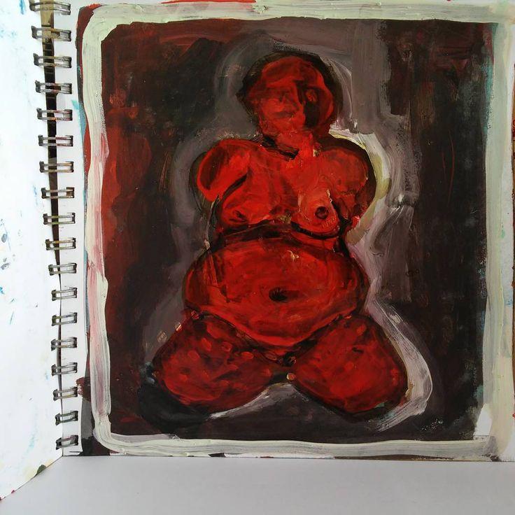 #acyrilic #gouache on #paper , 2010.  #painting #art #kunst #arte #acyrilicpainting #archeology #prehistory #arkeoloji #sanat #womanart #neolitic #godness #artwold #gallery #exhibition http://turkrazzi.com/ipost/1523204307008557979/?code=BUjgj83lxOb