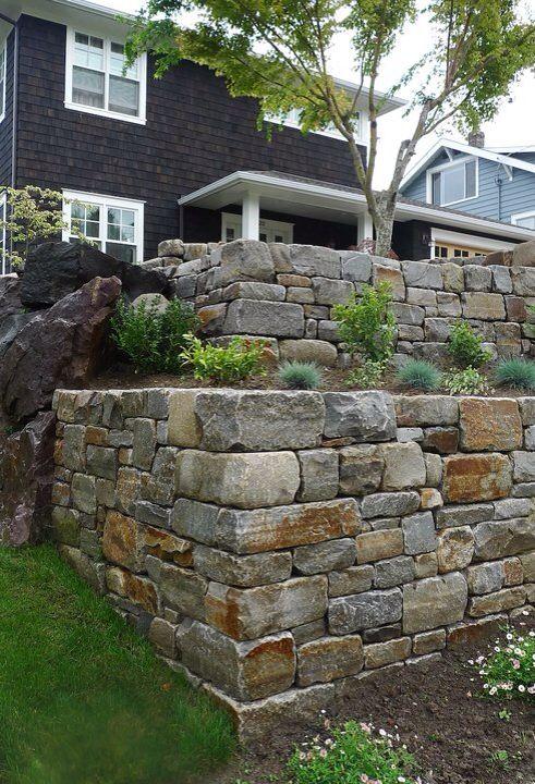 Wall in Seward Park, Seattle