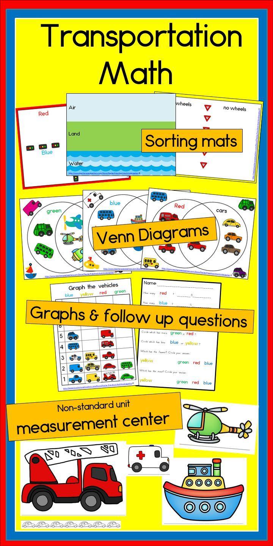 Lots Of Math Activities For My Preschool And Kindergarten Classroom My Kids Love These Especia Transportation Preschool Venn Diagram Venn Diagram Activities [ 1440 x 720 Pixel ]