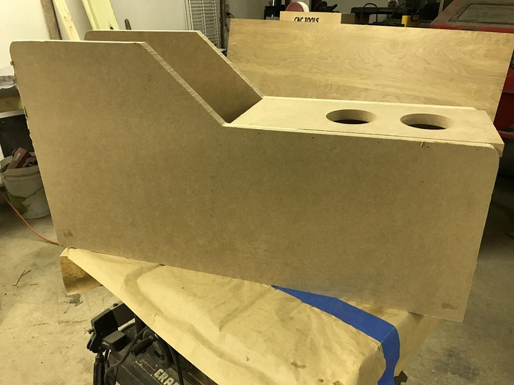 Starting work on a custom console. Cnc milled and hand shape working on certain parts.