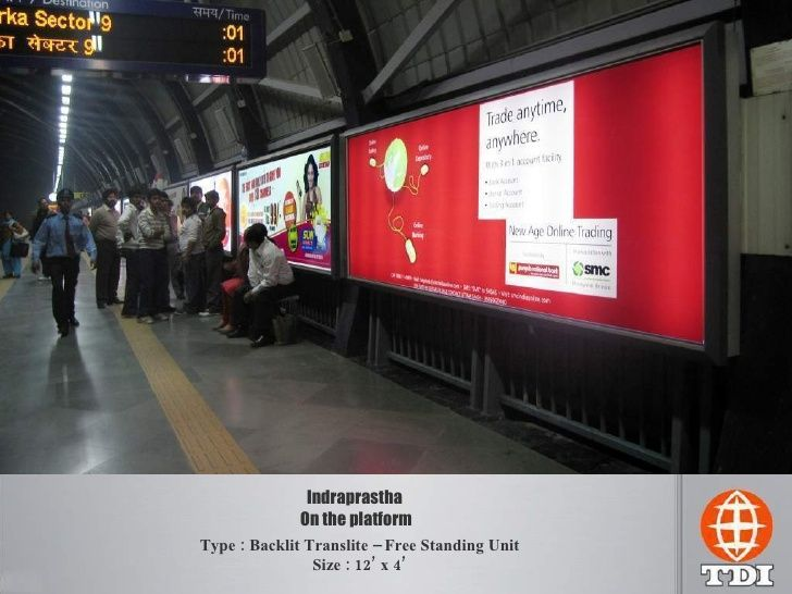 Looking for Advertise In Delhi Metro Platform? Competitive Rates. Call / Whatsapp Mr. Rao 9818810054, Email mvj.rao@tdiindia.com #Delhi # Metro #Platform #Ads