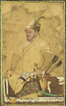 A heavily armed Uzbek (Safavid Iran, mid 16th century)