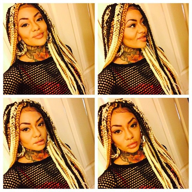 Box Braids Extensions Plaits Blonde Brown Black African