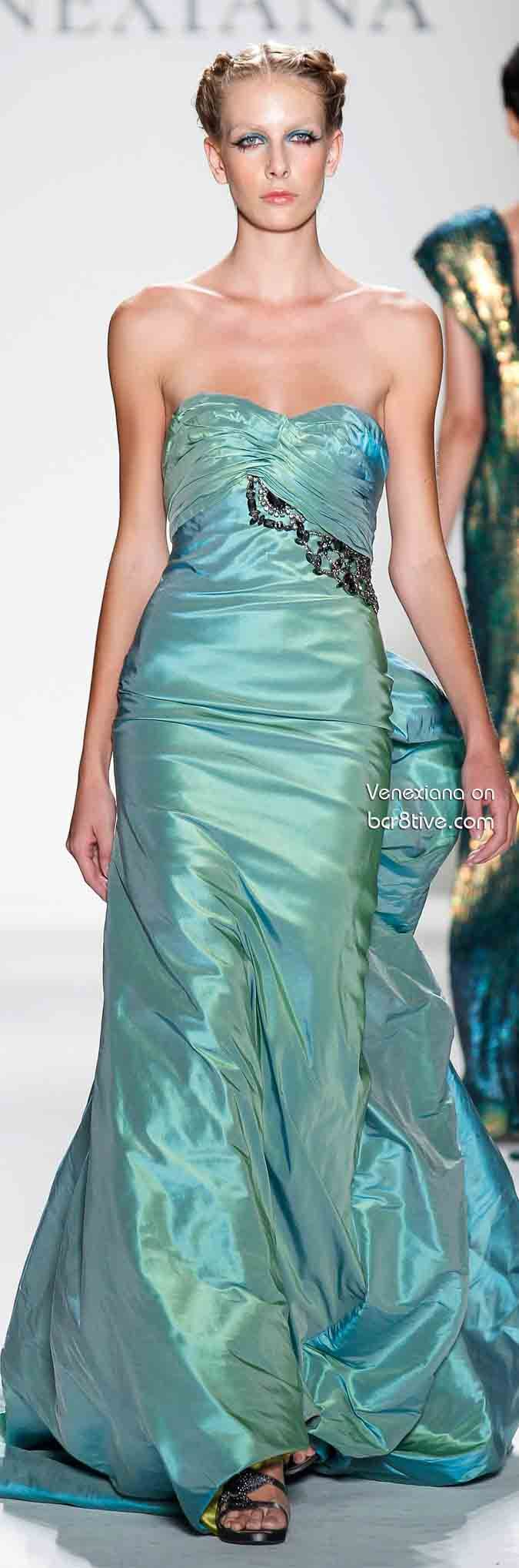 Venexiana Spring 2014.. like to see the back of this dress!