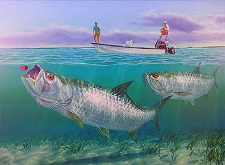 quicksilver tarpon fish art http://finefishart.com/tarpon-fish-wall-art.html