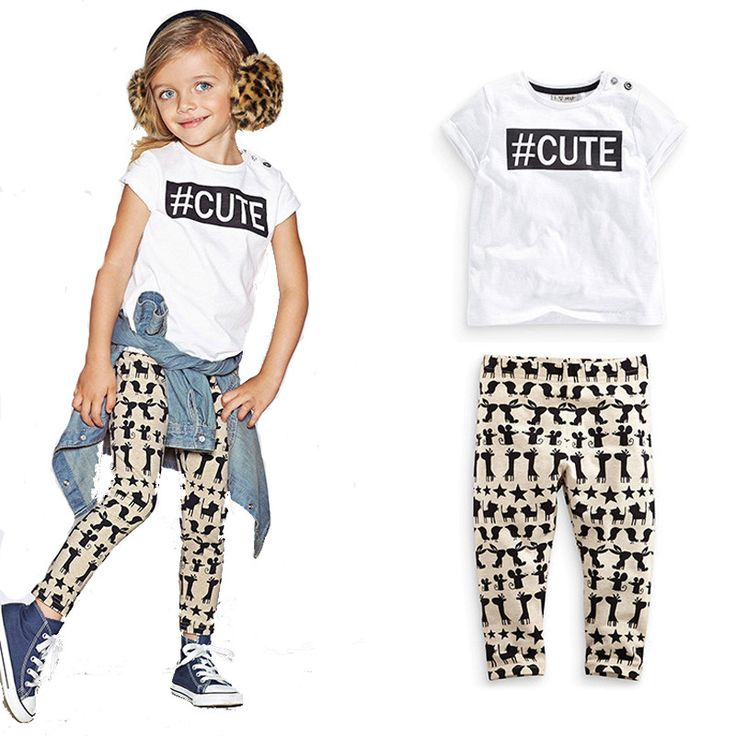Find More Clothing Sets Information about Baby girl clothing set CUTE printed white T shirt + pants rabbit mouse cartoon baby boy girl clothes new design vetement enfant,High Quality girl clothes,China clothes germany Suppliers, Cheap girls yoga clothes from moonlight zhou's store on Aliexpress.com