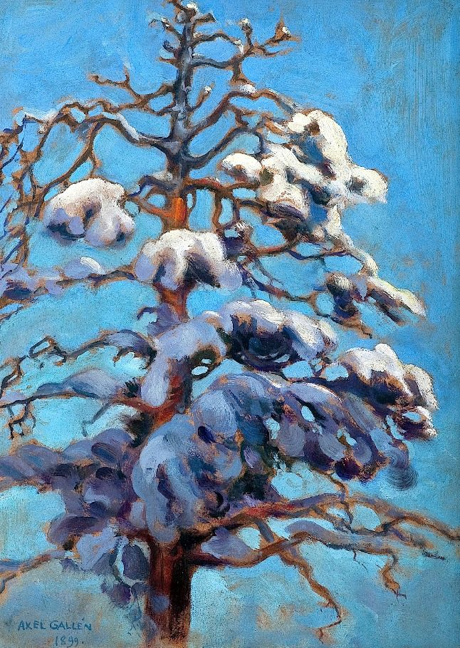 This is my view out the window  bofransson:  Akseli Gallen-Kallela 1865-1931 Snowy Fir