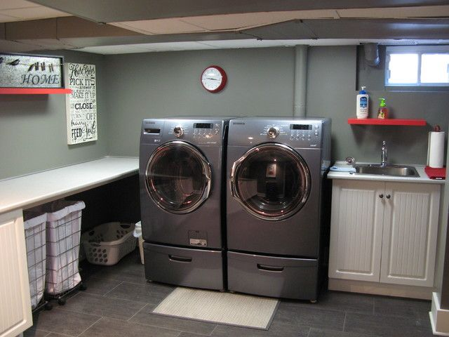 Basement Laundry Room Ideas For 23 Basement Laundry Home Design Ideas Pictures Remodel Custom
