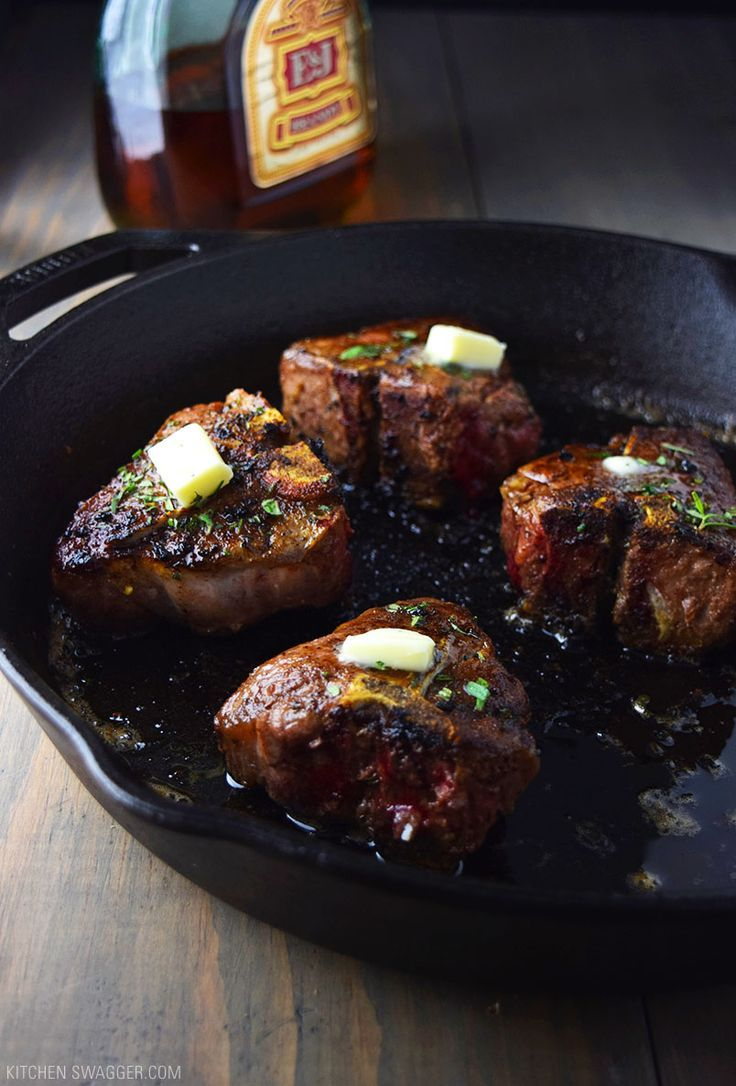 Lamb loin chops with cognac butter sauce is made with fresh rosemary and oregano…