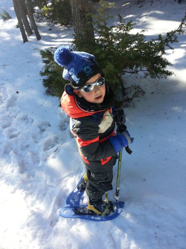 Cerdanya excursion raquetas nieve ninos