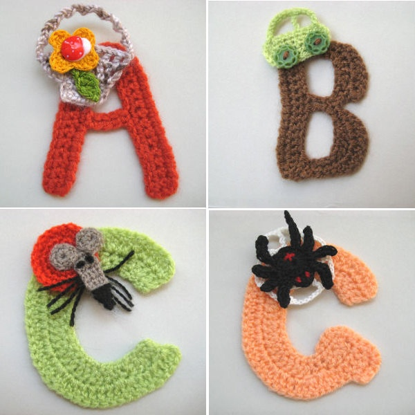 Crochet Letters A/Z Personalized Optional Applique by dimana