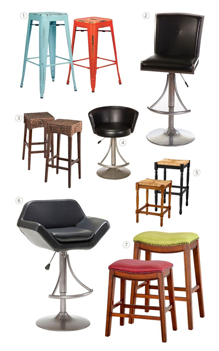 Check out this handy guide to determine the right bar stool height you need. Plus, see the difference between a counter stool and a bar stool.